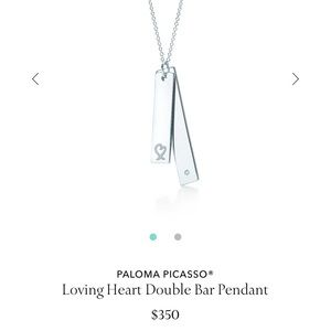 50b59e991 Tiffany & Co. Jewelry   Tiffany And Co Loving Heart Double Bar ...